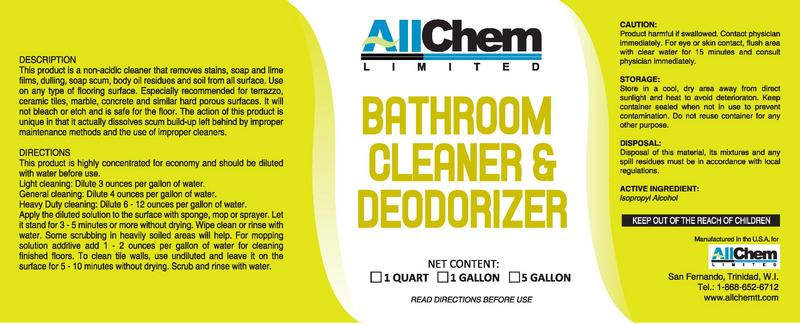Bathroom Care Allchem Limited