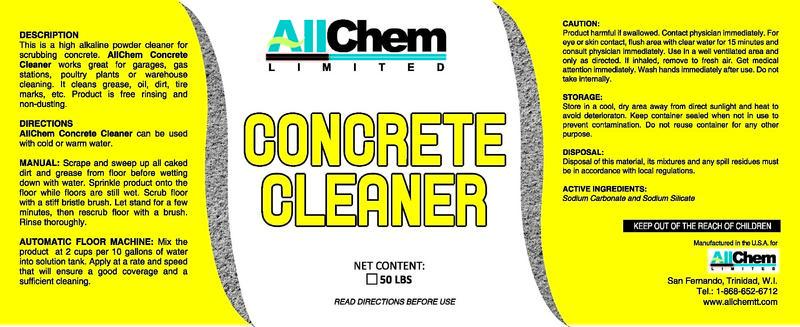 Floor care allchem limited for Alkaline concrete cleaner